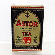 SALE Astor Tea Box Advertising Tin Mint Unopened Condition