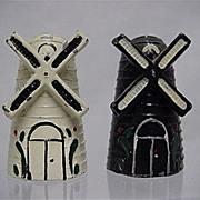 SALE Metal Salt and Pepper Set Iron Windmill Shakers