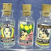 SALE Three Drugstore Bottles Advertising Black Memorabilia