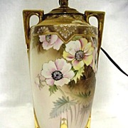 SALE Lamp Nippon Porcelain Hand Painted