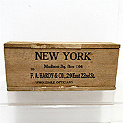 SALE Wood Advertising Box F. A. Hardy New York
