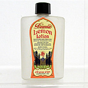SALE Glass Bottle Diana Lemon Lotion