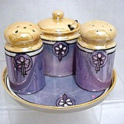 SALE Condiment Set Lusterware Porcelain