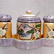 SALE Lusterware $49 Porcelain Condiment Set