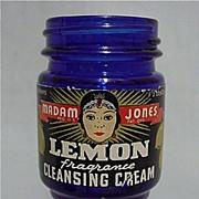 SALE Cobalt Jar Madam Jones Lemon Cleansing Cream
