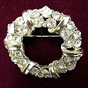 SALE Rhinestone Brooch or Pin