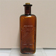 SALE Amber Glass Bottle Armour & Co.  Chicago Digestive Ferments