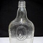 SALE Whiskey Bottle Harry Wilken Embossed