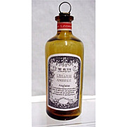 SALE Amber Glass Pharmacy Bottle Lavender Ambree