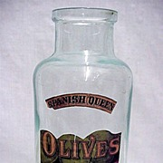 SALE Olive Bottle Spanish Queen Brand