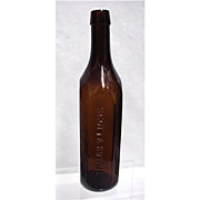 SALE Amber Bottle Scott & Bowne New York Chemists
