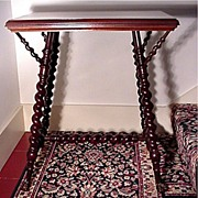 SALE Mahogany Parlor Table by Merklen Brothers