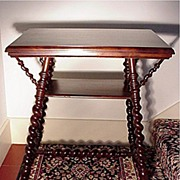 SALE Victorian Mahogany Parlor Table Merklen Brothers of NYC