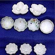 SALE Porcelain Ring or Trinket Dishes Assortment of 11