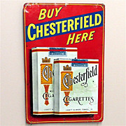 SOLD Chesterfield Cigarette Tin Advertising Sign 50% OFF
