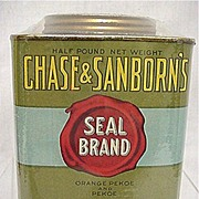 SALE Chase & Sanborns Tea  Seal Brand Advertising Tin MINT 50% OFF