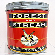 REDUCED Forest and Stream Pipe Tobacco Advertising tin