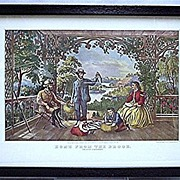 SALE Home from the Brook Currier & Ives Print 50% Off