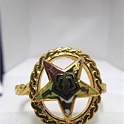 SALE Enameled Five Point Star Ring