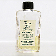 SALE Tawn Hair Dressing Glass Bottle