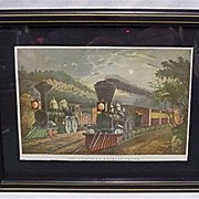 SALE Framed Rail Road Print
