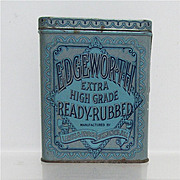 REDUCED Edgeworth Ready Rubbed Advertising Tobacco Tin