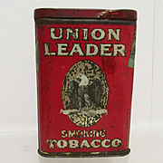 REDUCED Union Leader Pocket Advertising Tobacco Tin