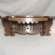 SALE Solid Wood Antique Clock Shelf