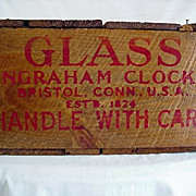 SALE Ingraham Clock Glass Wood Box