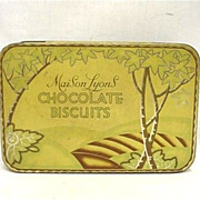SALE Maison Lyons Chocolate Biscuits Tin