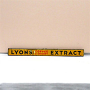 SALE LYONS Coffee and Chicory Extract Tin Advertising Sign