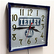 SALE Tetley Tea Advertising Clock