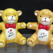 SALE Teddy Bear Souvenir Salt and Pepper Shakers Two Different Sets  $10 each