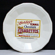 SALE Hershey Tennis Chocolate Cigarettes Porcelain Advertising Plate