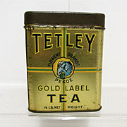 SALE Tetley Tea Advertising Tin Flowery Orange Pekoe