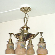 SALE American Antique Ceiling Four Light Chandelier  $449