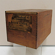 SALE Talcum Powder Wood Advertising Box