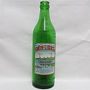 SALE Twin Lights Ginger Ale Bottle