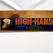 SALE High Hand Wood  Advertising Sign 50% OFF