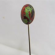 SALE Stickpin Red Green Black Scarab Head REDUCED