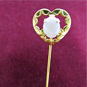 SALE Stickpin Open Heart with Opal REDUCED