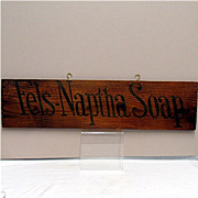 SALE Fels-Naptha Soap Wood Advertising Sign