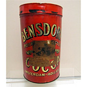 SALE Bensdorp's  Royal Dutch Cocoa Soda Fountain Tin