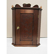REDUCED Antique American Corner Cupboard