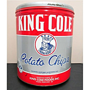 SALE King Cole Potato Chips Tin