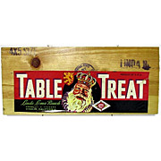 SALE Table Treat Wood Advertising Sign 50+% OFF
