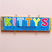 SALE Kitty's Wood Advertising Sign