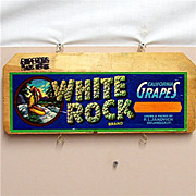 SALE White Rock California Grapes Wood Advertising Sign 50% OFF