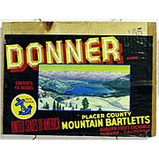 SALE Donner Wood Advertising Sign