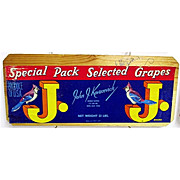SALE Blue Jay Grapes Wood Advertising Sign